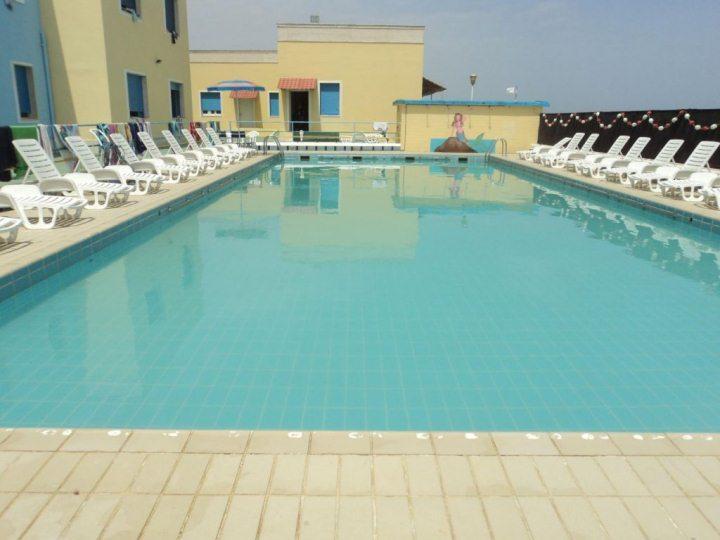 Ośrodek kolonijny w Rimini - basen