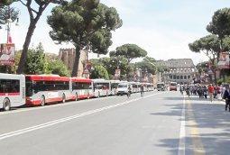 rzym autobus fori imperiali - Rzym – autobusy turystyczne – nowe reguły 2019